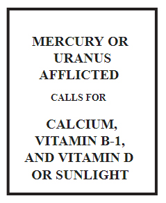 what to eat when mercury or uranus is afflicted